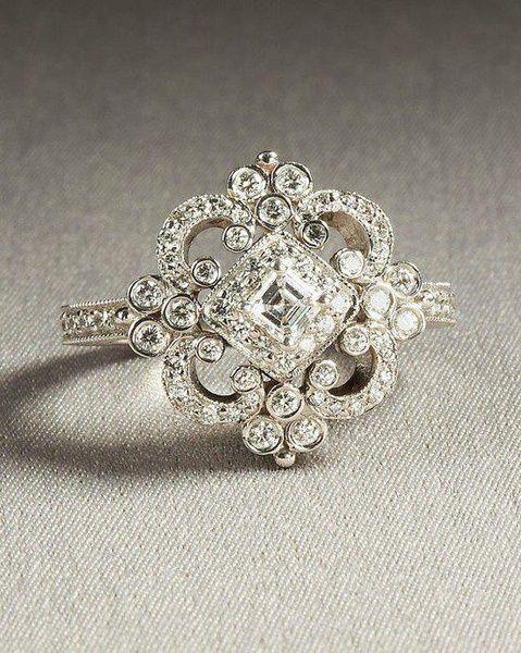 Wish Vintage Heirloom Engagement Ring Wedding rings