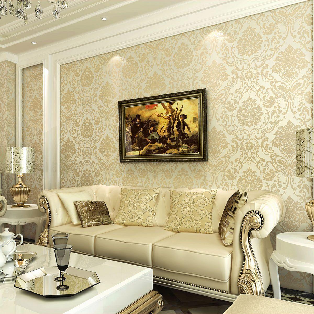25 Elegant Living Room Wallpaper Design For Amazing Home Decoration Elegant Living Room Wallpaper Best Living Room Wallpaper Wallpaper Living Room