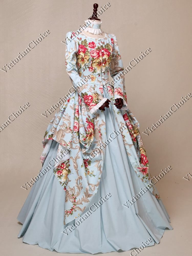Victorian Floral Fairytale Fantasy Dress Gown Princess Reenactment
