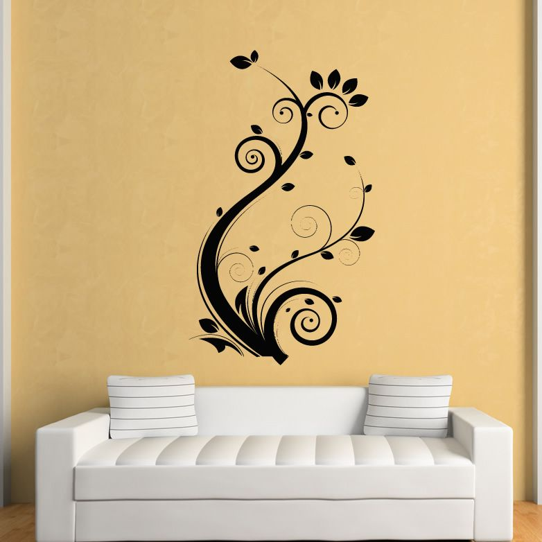 Details About Floral Leaves Flowers Wall Art Stickers Wall Decal Transfers Papeis De Parede Decoracao Decoracao Papeis De Parede