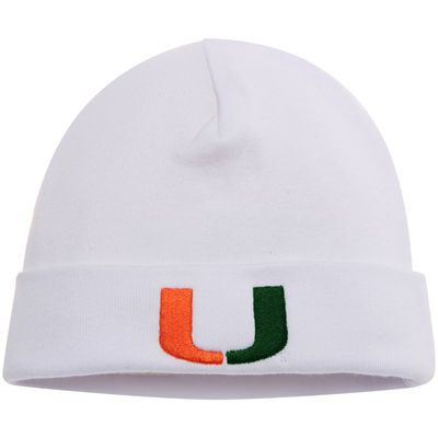47af8352fcc Miami Hurricanes Top of the World Infant Logo Cuffed Knit Hat - White