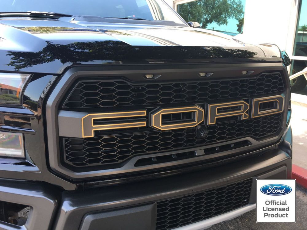 2018 Ford Raptor Svt F 150 Grille Letter Outlines Vinyl Stickers Decals Grill Rockymountaingraphics Ford Raptor Ford Raptor 2017 Ford Raptor Accessories
