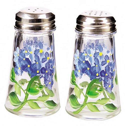 Hydrangea Salt and Pepper Set.