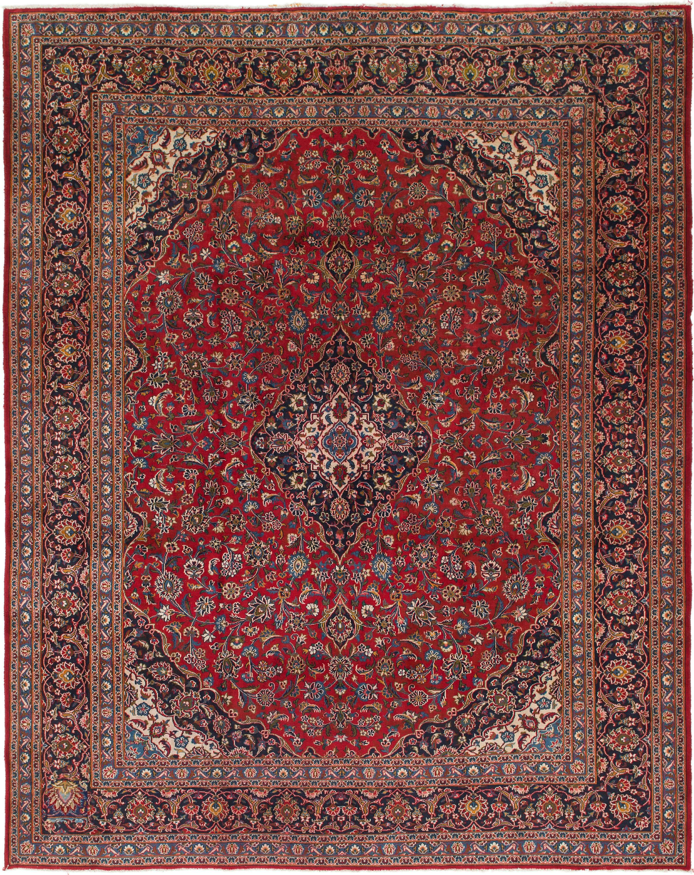 Red 9' 9 x 12' 4 Mashad Persian Rug , AFFILIATE, Red,