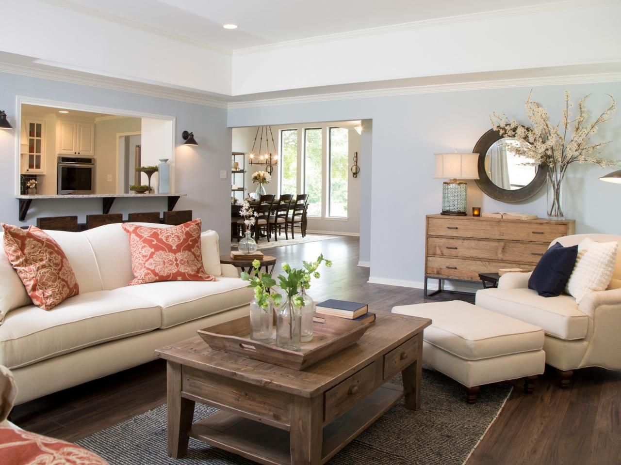 living rooms decorated by joanna gaines photos of room dividers fixer upper a rush to renovate an 80s ranch home spare hgtv