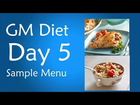 Gm Diet Day 5 Vegetarian And Non Vegetarian Version So Called