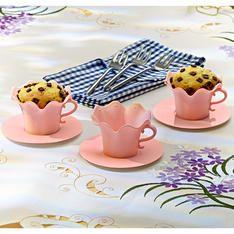 Muffinförmchen Tasse rosa 6-tlg.