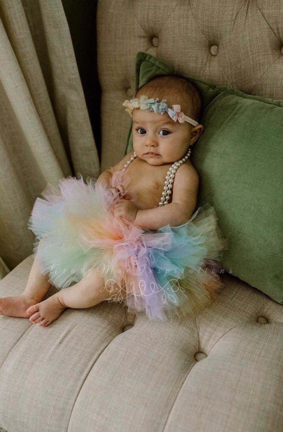 Smash Cake Tutu Toddler Mint Baby Tutus Newborn Tutu Birthday Girl Tutu