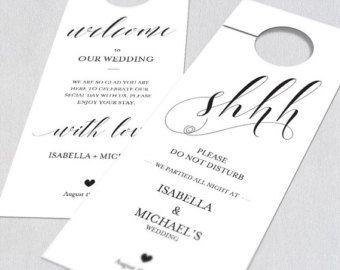 do not disturb door hanger sign template navy calligraphy wedding