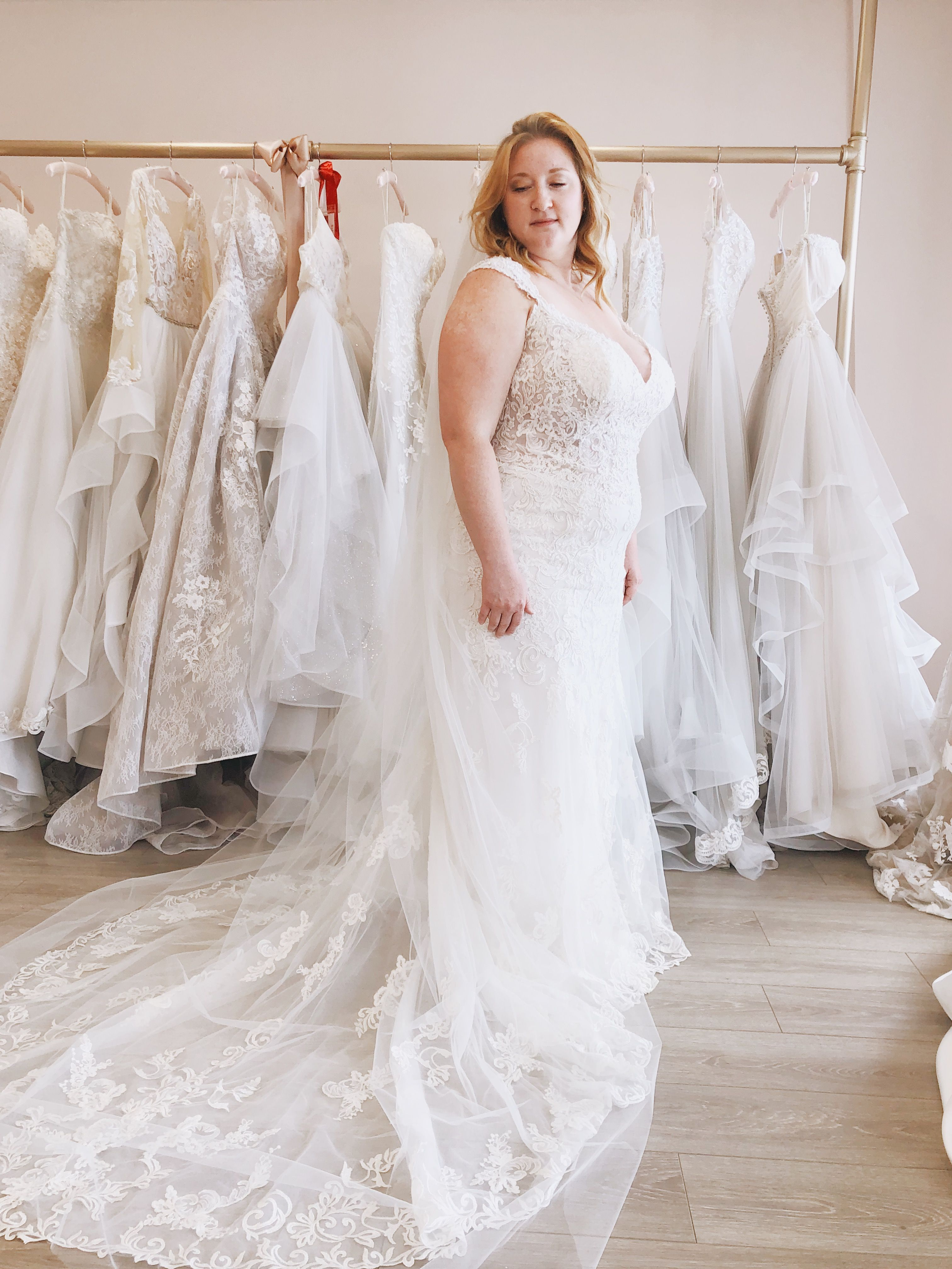 Wow Our New Plus Size Wedding Gown Sahra Is Such A Show Stopper Especially When Paired With A Plus Size Wedding Gowns Wedding Dresses Wedding Dresses Lace [ 4032 x 3024 Pixel ]
