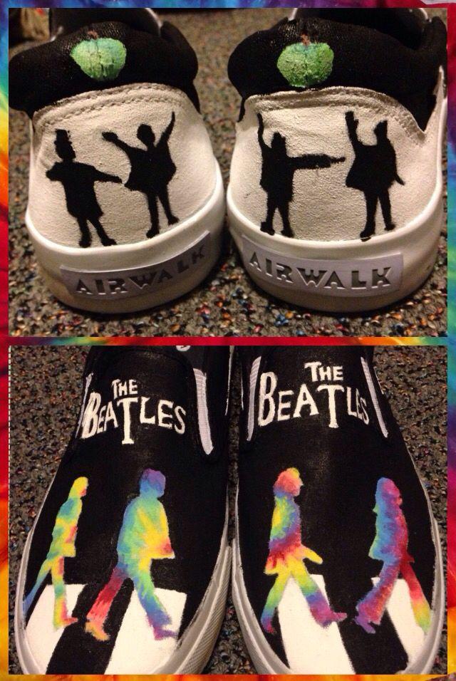 Custom hand-painted Beatles shoes