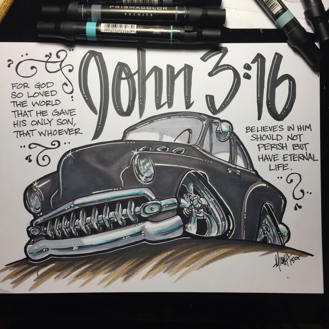 Micahdoodles Com 1954 Bel Air Chevy Car Cartoon Chevy Cartoon Drawings