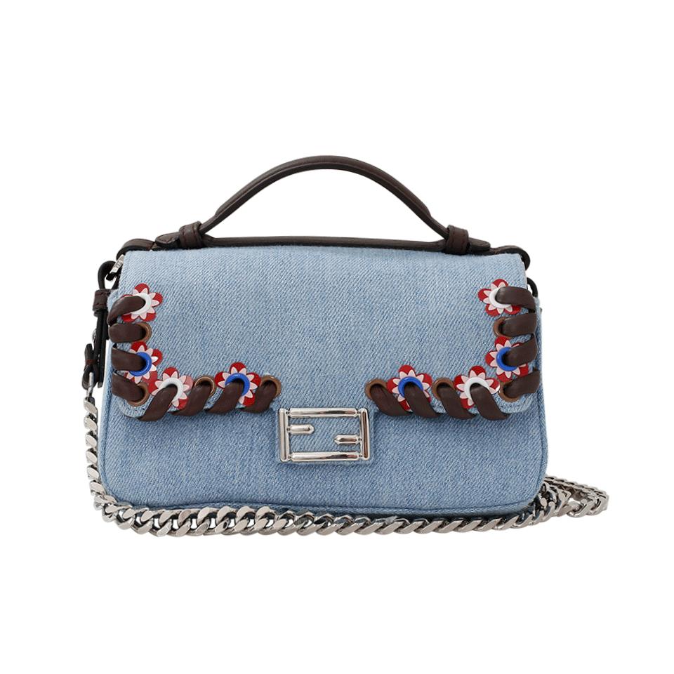 5dceb8ea1d02 FENDI Denim Double Micro Baguette.  fendi  bags  shoulder bags  hand bags   denim