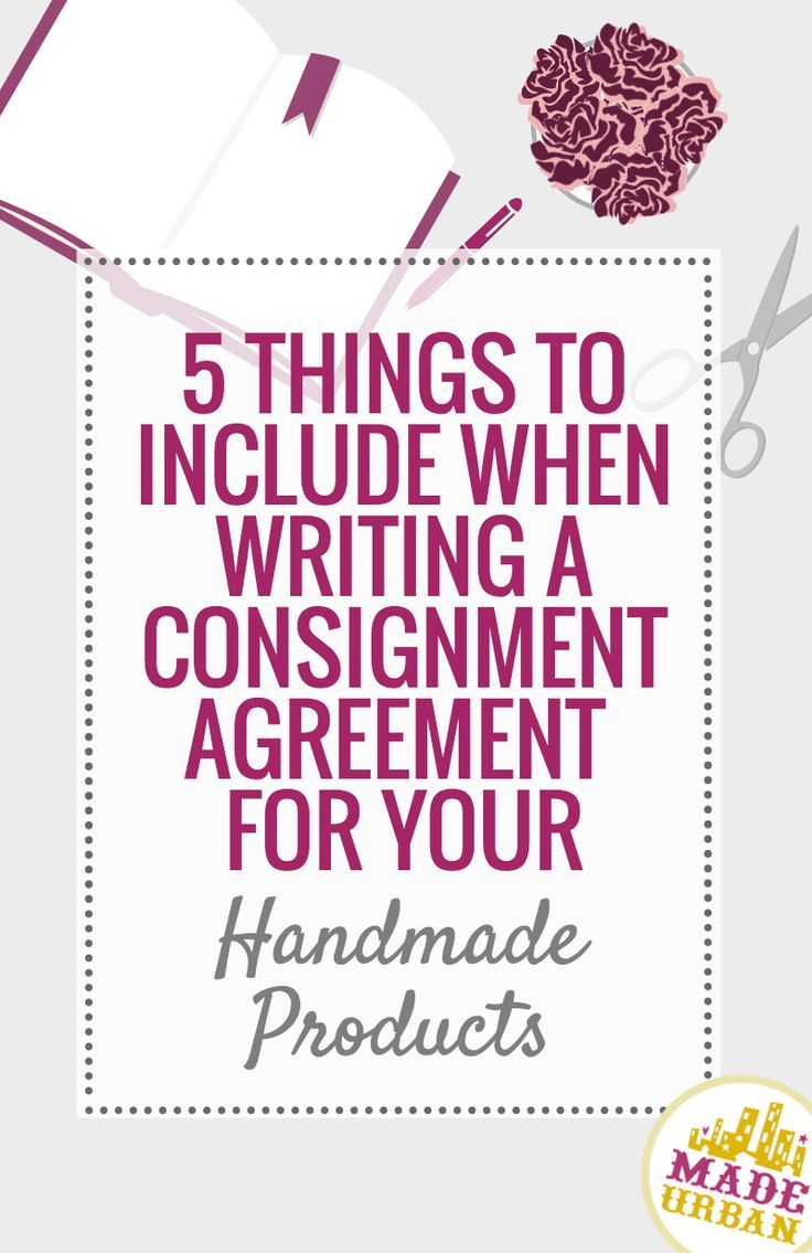 What To Include In A Consignment Agreement  Handmade Products