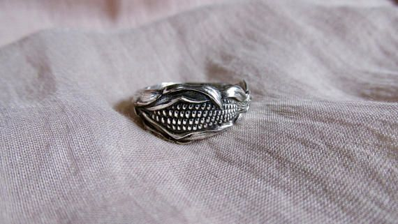 This Small Sterling Silver Spoon Ring Was Made From An Antique Spoon