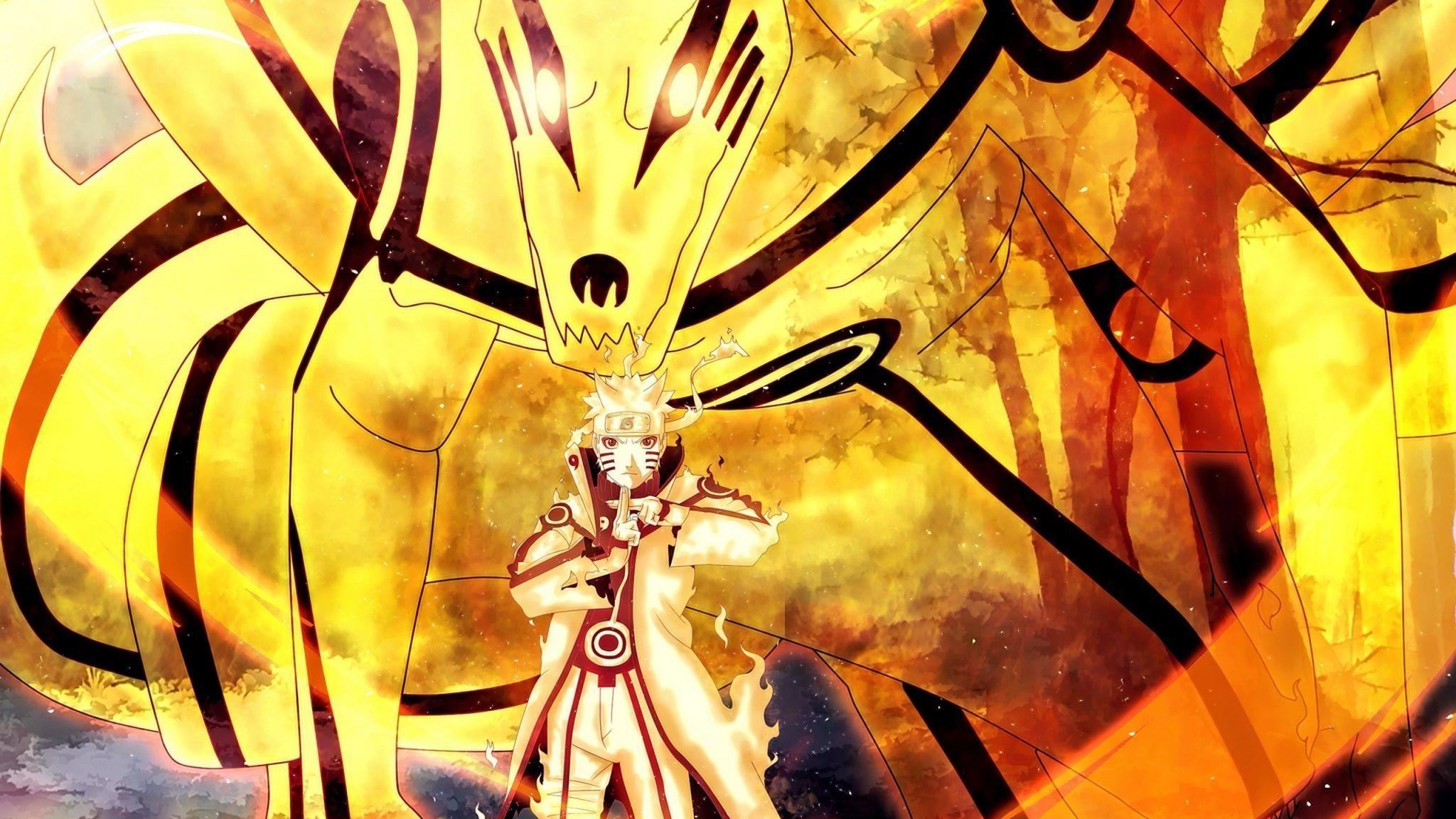 Hình Uzumaki Naruto Cửu Vĩ