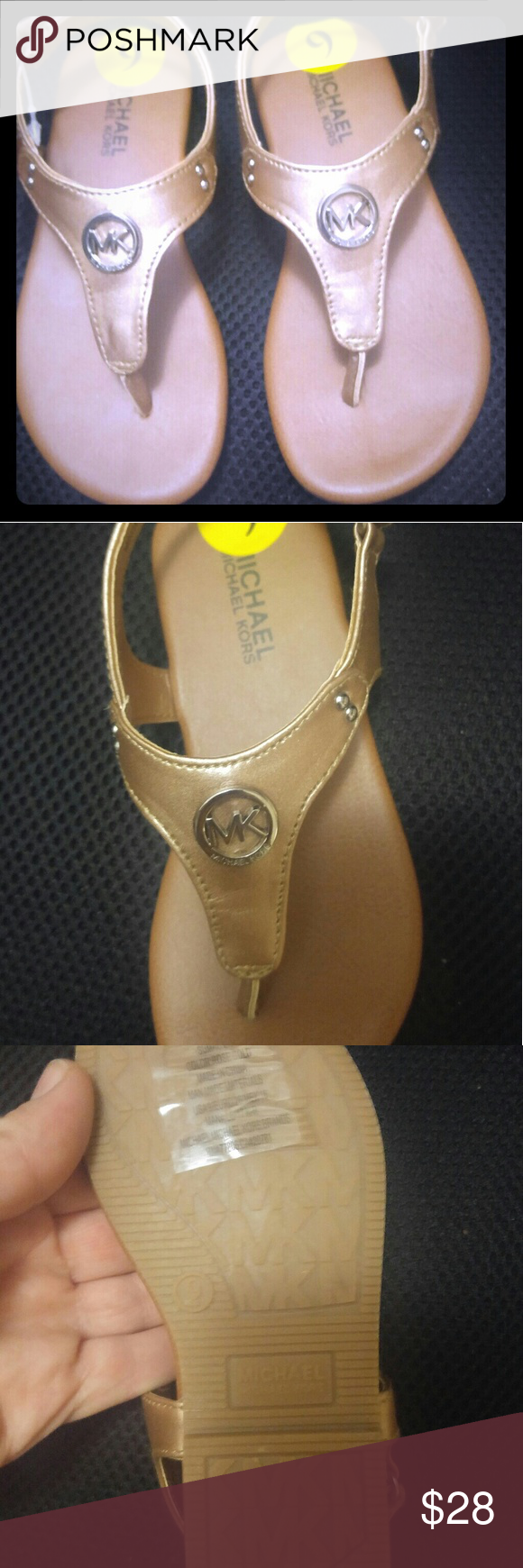 9 Gold Kors Baby's Thong Size Michael Sandals Rose W9bE2eDHIY