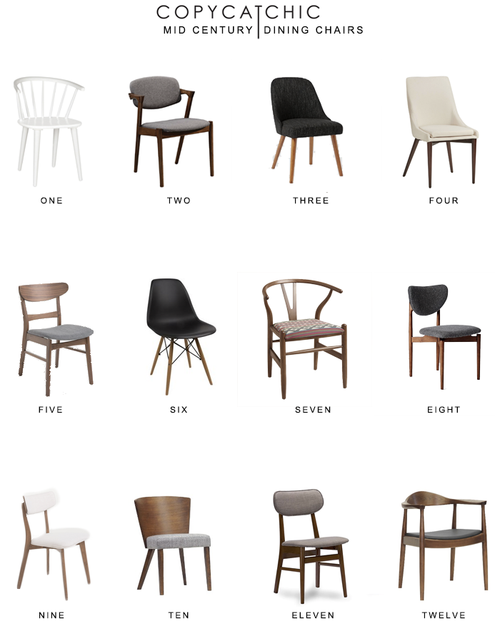 Home trends | All of our favorite mid-century inspired dining chairs | copycatchic luxe  sc 1 st  Pinterest & Mid Century Dining Chair Round Up | Home Goods | Pinterest | Dining ...