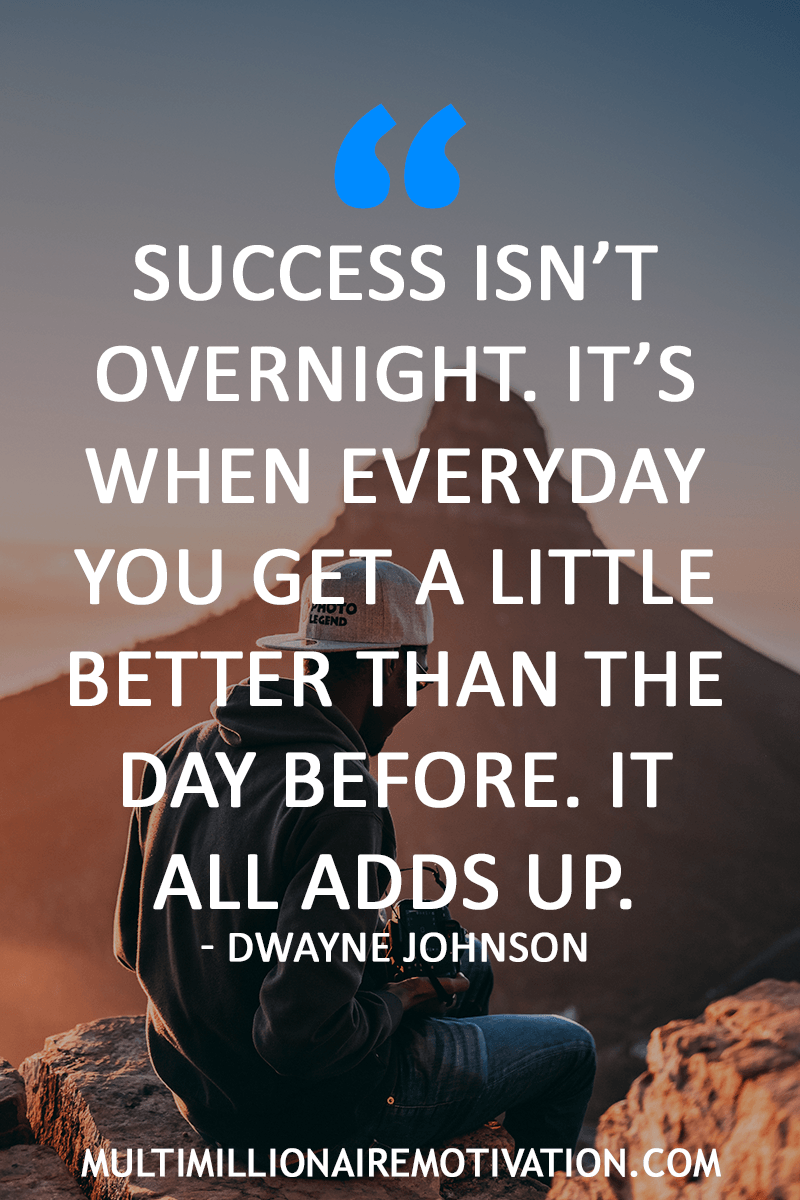 50 Awe Inspiringly Inspirational Success Quotes Inspirational Quotes About Success Dwayne Johnson Quotes Hard Work Quotes