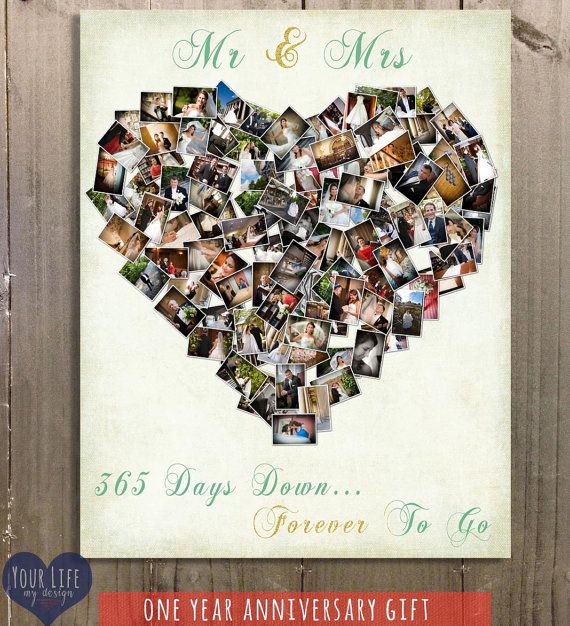 First Anniversary Gift Anniversary Photo Collage Etsy In 2020 Anniversary Gifts For Husband Anniversary Gifts For Wife Anniversary Gifts