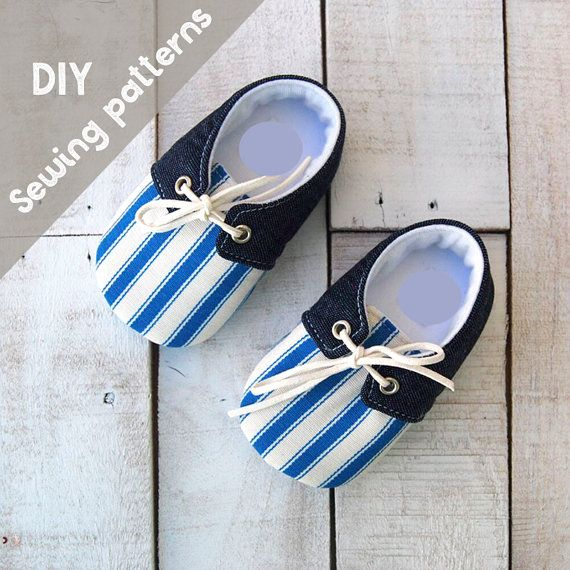 a03b91342fc98 DIY kid's sewing pattern pdf, Retro Baby boy shoes, shoes with lace ...