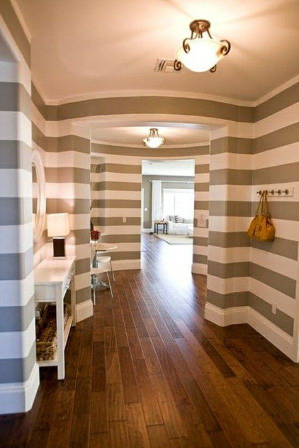 Corridor-wall-painting-ideas-stripes-beige-whitejpg (600×898 - moderne fliesenspiegel küche