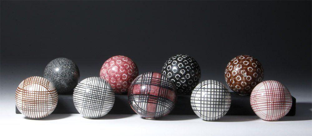 Lot Of 9 Victorian Scottish Ceramic Carpet Balls Lot 94 Carpet Bowls Ceramics Victorian