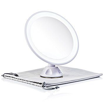 Keen Edge Home Travel Lighted Makeup Mirror Magnifying 7x