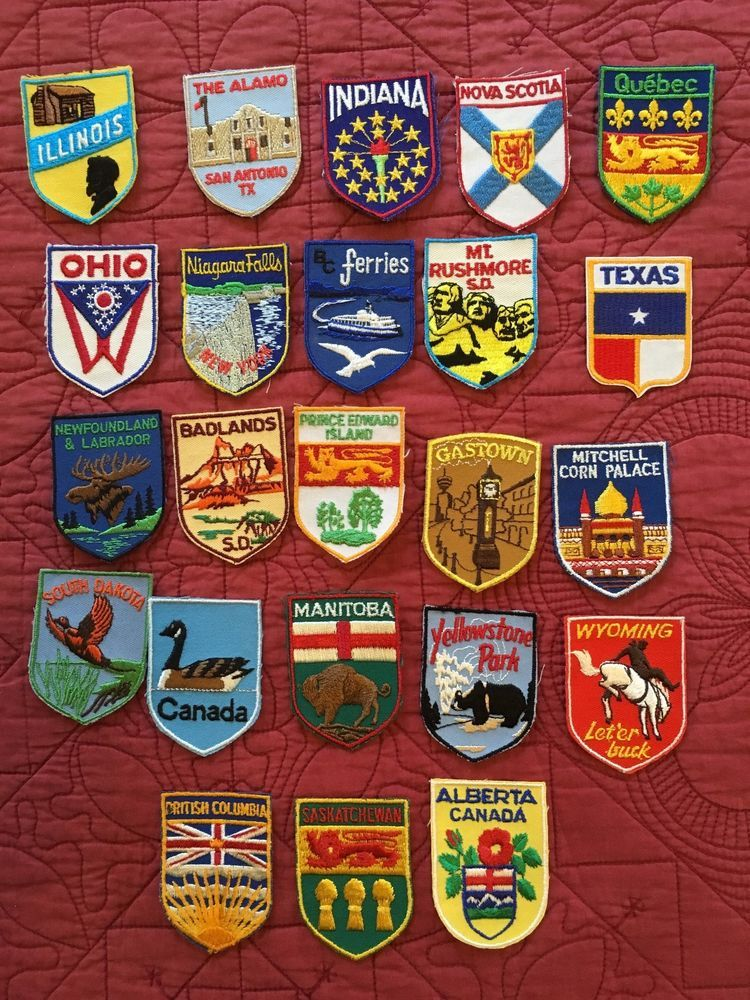Vintage 1960s Embroidered Patches Patch Badges Travel Businesses Many Choices