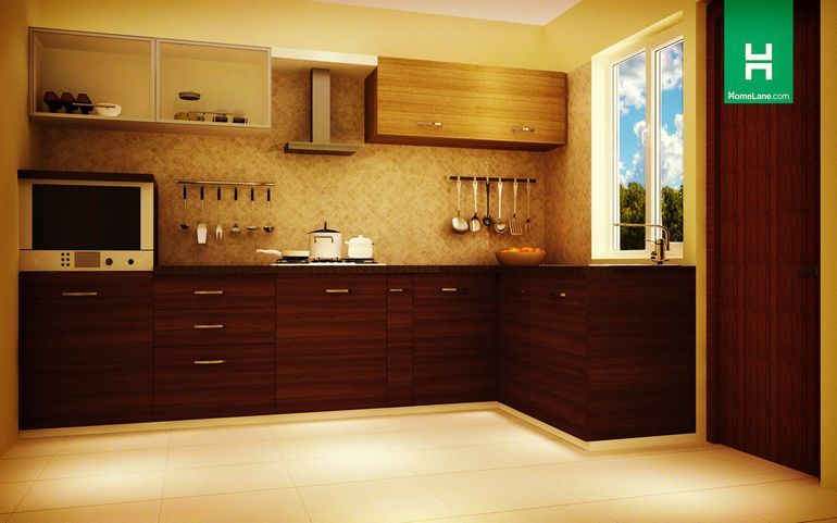 Robin Picturesque L-Shaped Kitchen (with-handle) - Homelane India ...