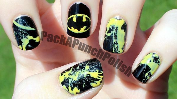 I Had A Request On My Facebook Page To Do A Batman Nail Art Design