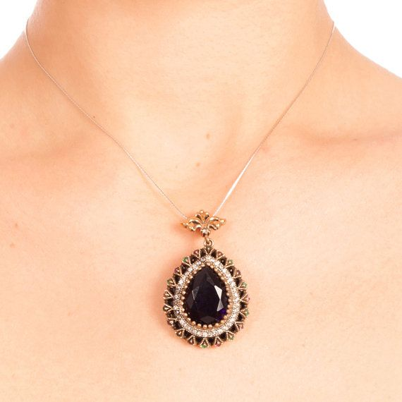 The Zerbap Celestina Pendant  with Ruby Emerald by Rosestyle, $53.00