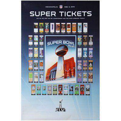 Super Bowl XLVI 24'' x 36'' Super Tickets Poster