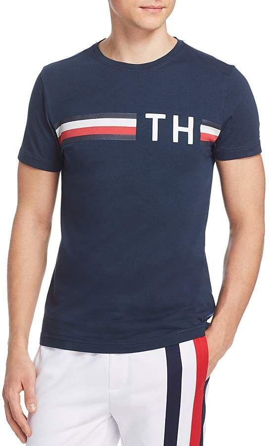 0a3c4171e09 Tommy Hilfiger Striped Logo Tee Camisas