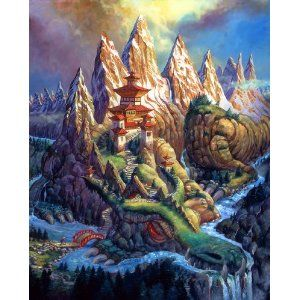 Barnard Dragon Mountain wooden jigsaw puzzle by Artifact Puzzles
