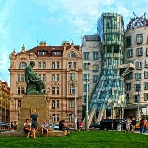 'Dancing House' by Frank Gehry
