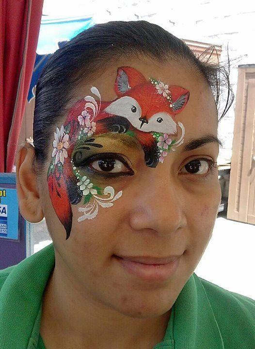 fox face painting maquillajes pinterest kinderschminken katze schminken und karneval. Black Bedroom Furniture Sets. Home Design Ideas
