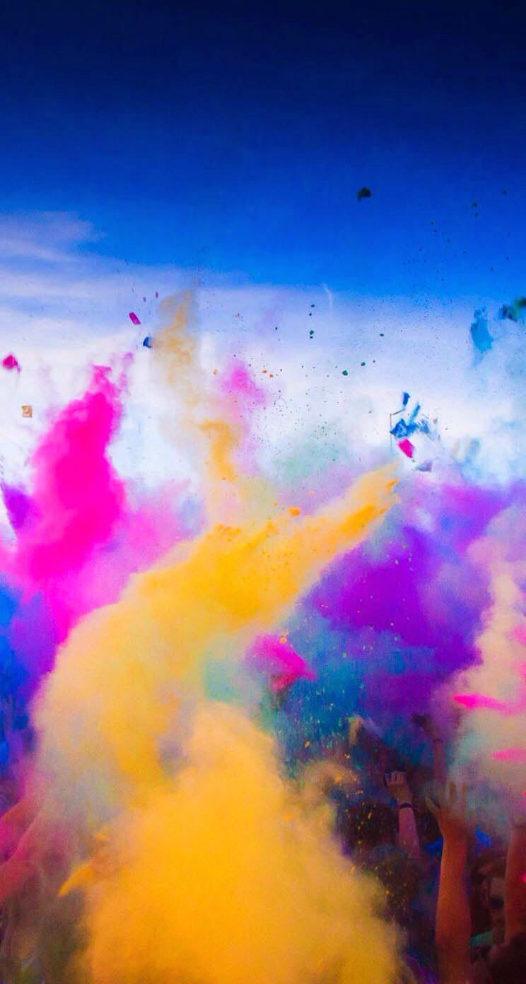 Colorful Chalk Dust Nutshell Background Images