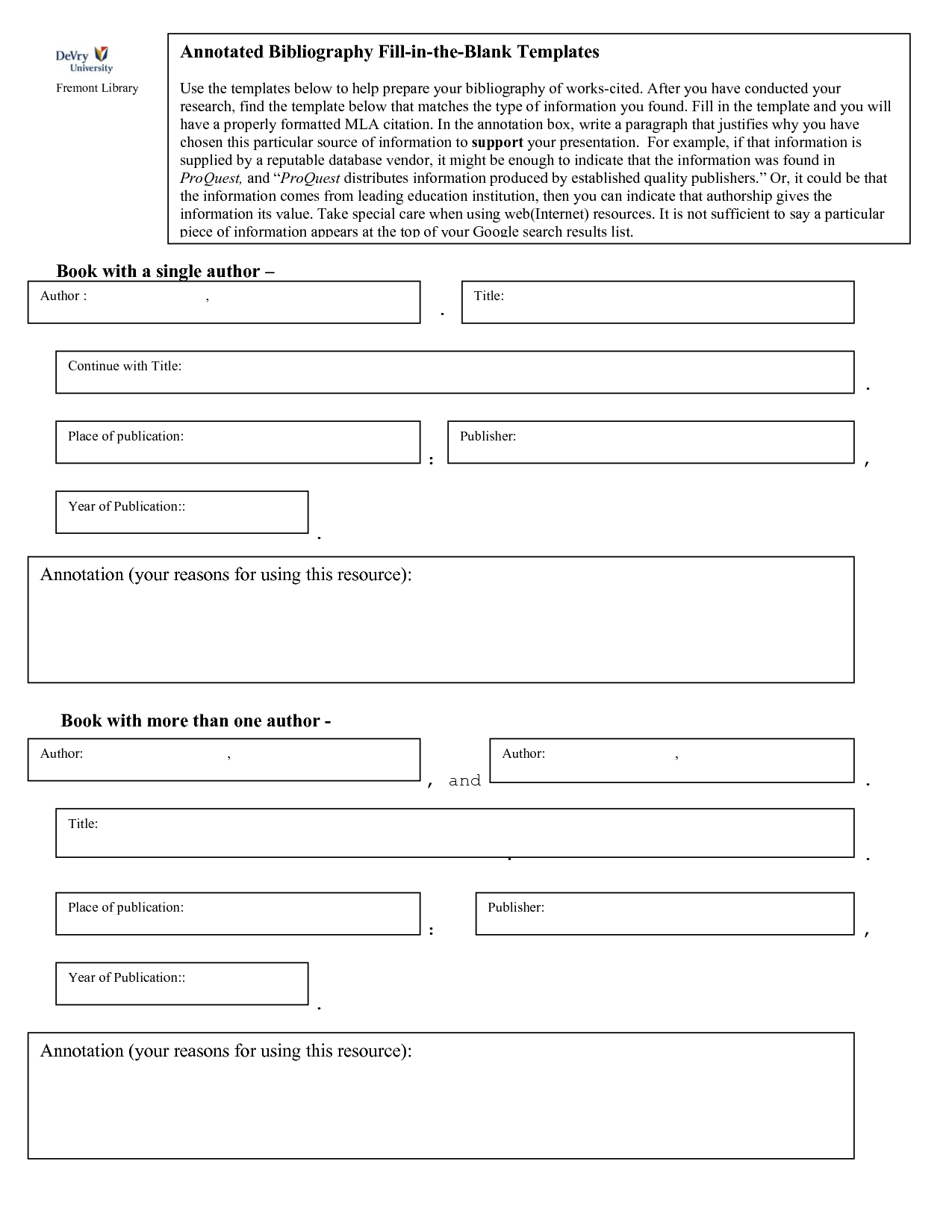 Bibliography Note Template