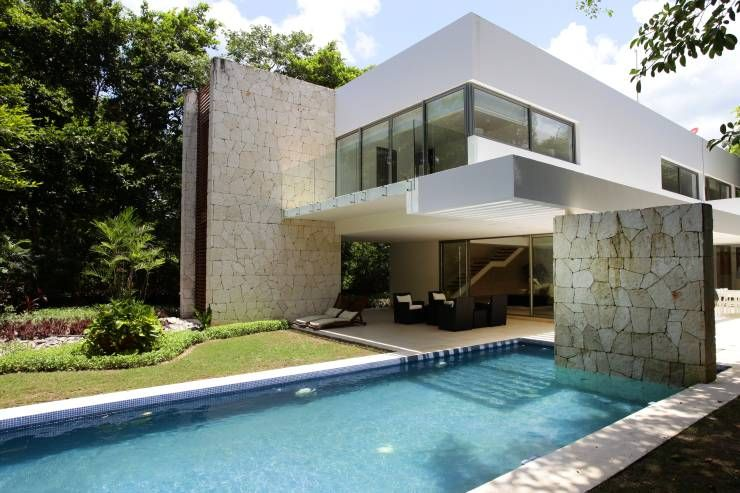 Piscina In Stile In Stile Moderno Di Enrique Cabrera Arquitecto Contemporary House Architecture House