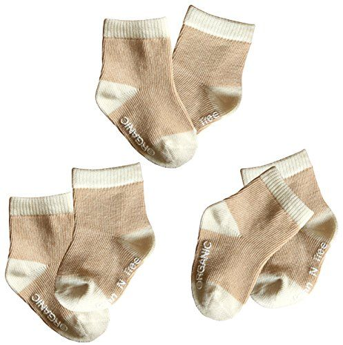 Baby Socksset Of 3 Organic Cotton Natural Brown Want Additional Info Click On The Image Baby Boy Socks Baby Clothes Organic Cotton