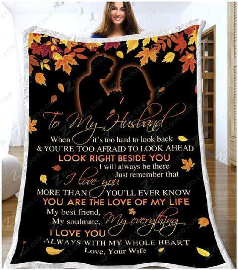 Wolves To My Husband Meeting You Was fate Quilt blanket Fleece Blanket