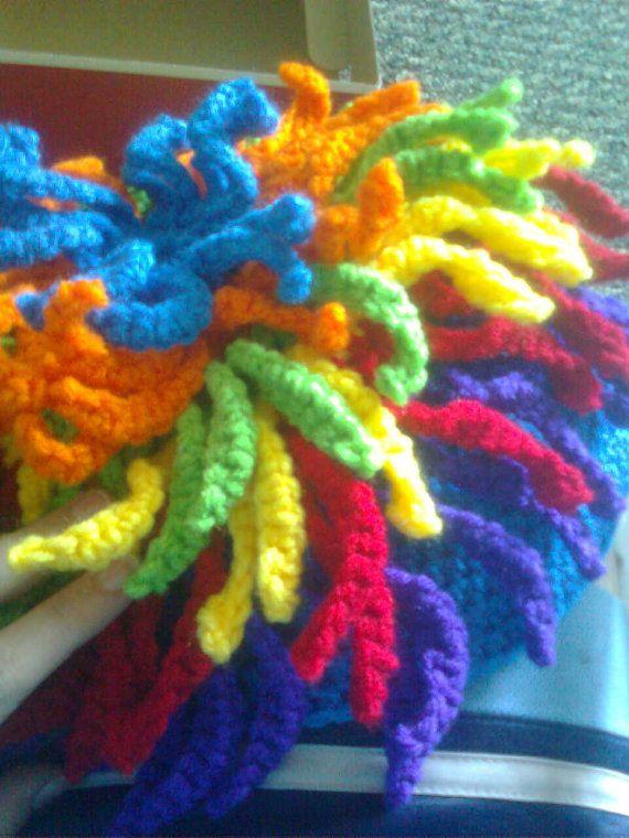 Crocheted dreadlock beanie | Yarn Wigs | Pinterest