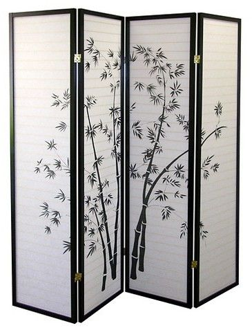 Target Ore International Ore 4 Panel Room Divider Black White Bamboo Room Divider Room Divider Screen Room Divider