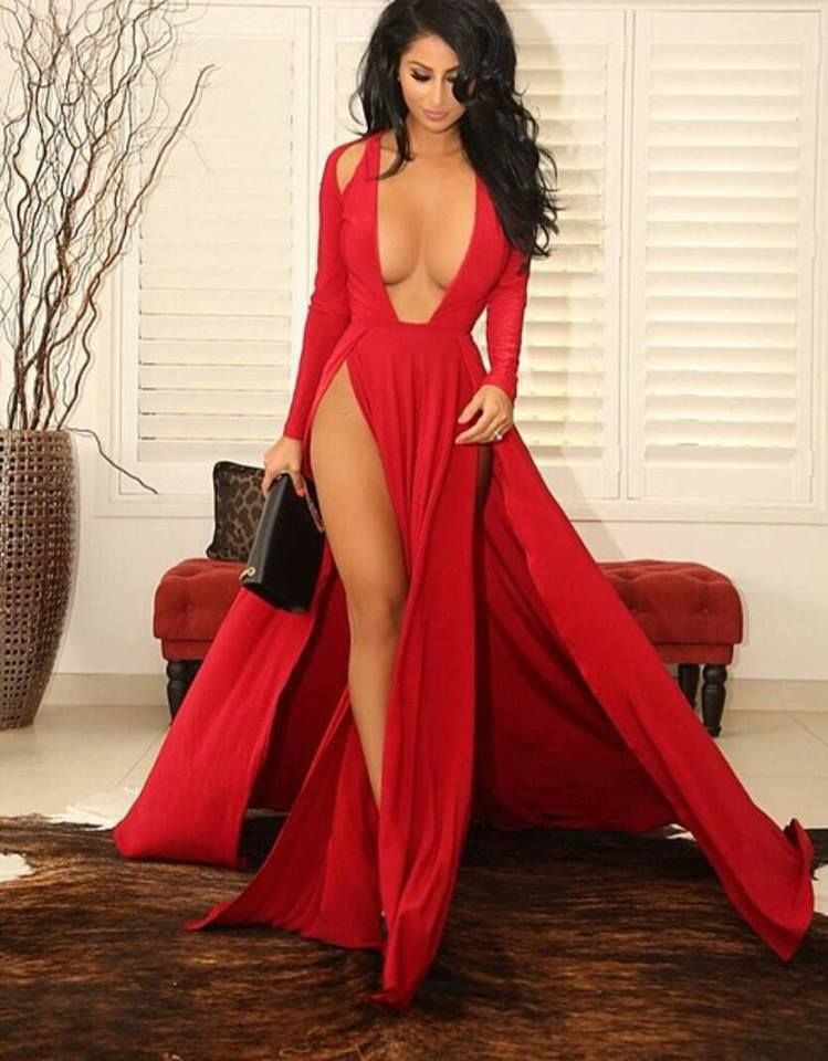 Sexy lady evening wear