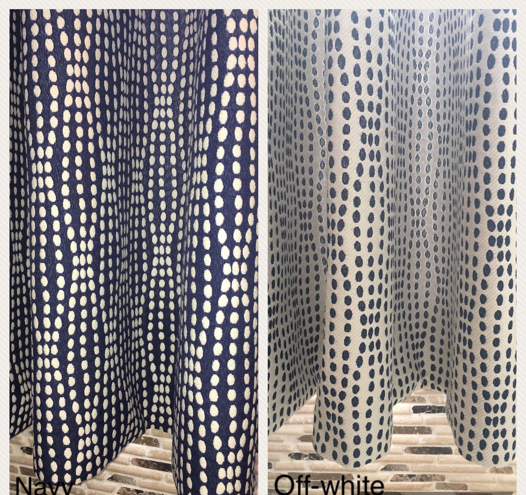 Wavy Dots Curtain Panel, Cafe Curtain Panel Or Curtain