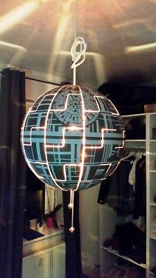 lylelo ikea hack ps 2014 todesstern lampe death star. Black Bedroom Furniture Sets. Home Design Ideas