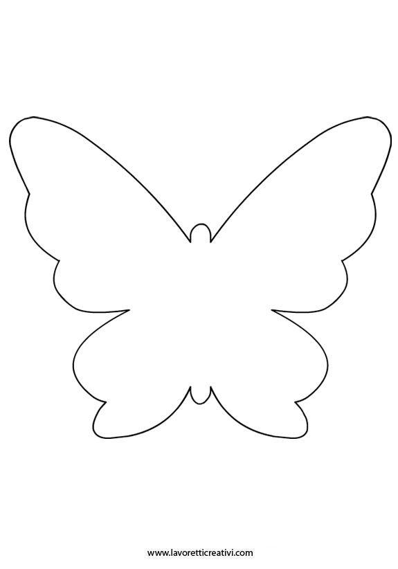 Farfalla Sorridente Facile Disegno Da Colorare