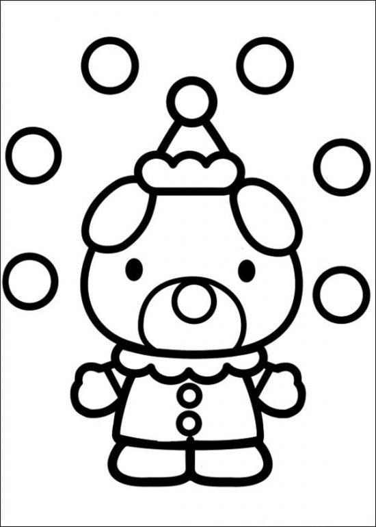 Free Printable Hello Kitty Coloring Pages Picture 7 550x770 Picture ...