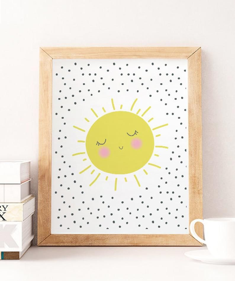 You Are My Sunshine Wall Art Sun Wall Artchildrens Nursery Etsy Kids Room Wall Art Art Wall Kids Kids Room Wall